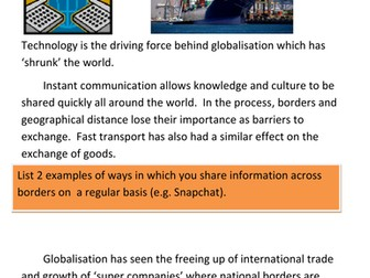 Role of technology in Globalisation