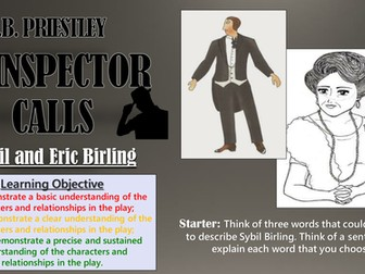 An Inspector Calls: Sybil and Eric Birling - Double Lesson!