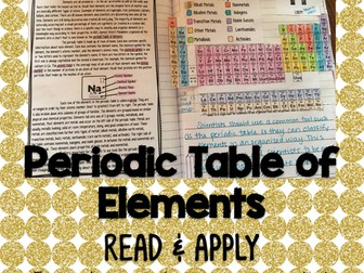 Periodic Table of Elements Read and Apply