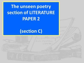 Unseen Poetry AQA GCSE Lit