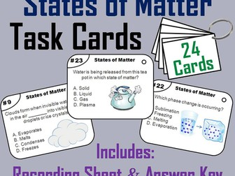 States of Matter Task Cards