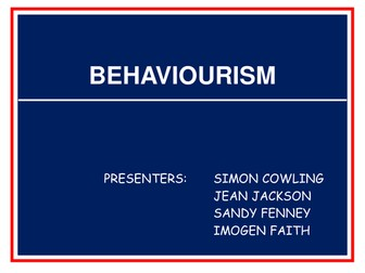 Educational Behaviourist Learning Theories.