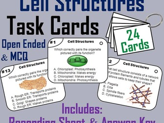 Cell Organelles Task Cards