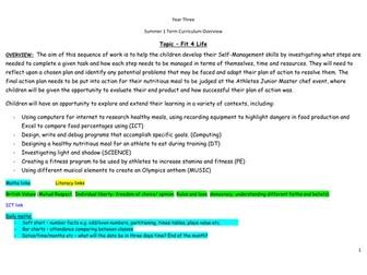Year 3 Summer 1 Medium Term Overview/Planning