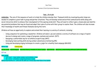Year 3 Summer 2 Medium Term Overview/Planning