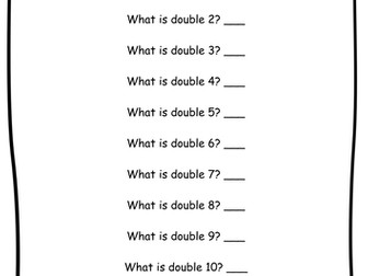 Year 2 - Halves and Doubles - Worksheets - Differentiated - Editable