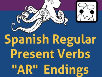 Spanish Task and Pairing Cards for Regular Present Verbs with AR Endings.   Verbos en Español