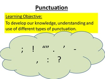 GCSE Spelling, Punctuation and Grammar Revision Lessons