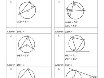 Geometry QR Code Homework Sheets - Bundle 3