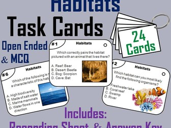 Animal Habitats Task Cards