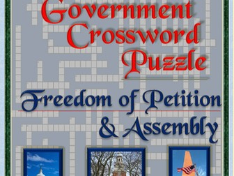 First Amendment Crossword Puzzle: Freedom of Assembly & Petition (U.S. Government Puzzle Worksheets)