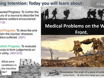 Medicine on the Western Front: WWI Medical Problems (GCSE 1-9)