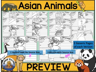 Asian Animal Research Activity Posters