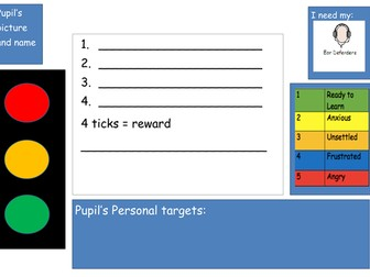 Placemat for pupils with ASD / ADHD