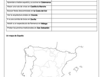 Spanish A Level el impacto del turismo en España: Why do tourists go to Spain? (whole lesson)