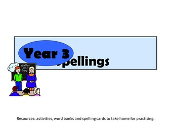 Year 3 spelling resources
