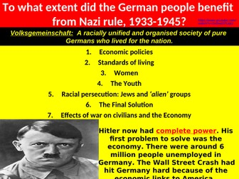 Life in Nazi Germany, 1933-1945 - Economy, Women, Culture, Jews and The Final Solution...