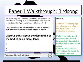 AQA English Language Paper 1 - Section A Walkthrough