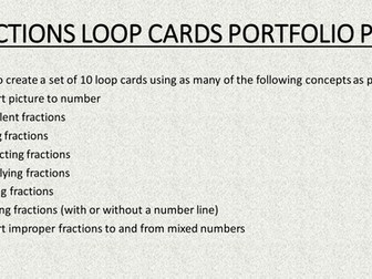 Fraction loop cards task