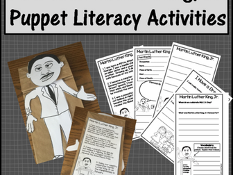 Martin Luther King, Jr. Puppet Literacy Activities