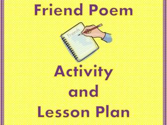 Friend Poem Activity and Lesson Plan