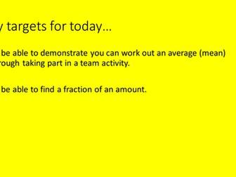 Fractions of amounts