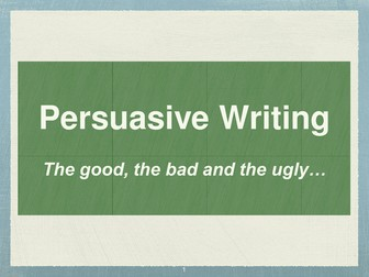 Persuasive text writing powerpoint