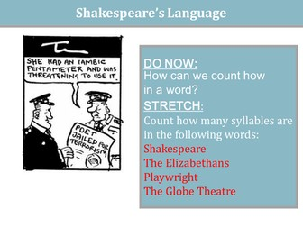 An Introduction to Shakespeare - Shakespeare's Language, iambic pentameter