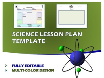 Lesson Plan Template- Science (Editable)