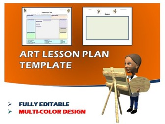 Lesson Plan Template - Art (Editable)