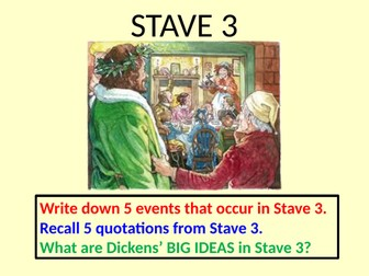 How does Dickens present Christmas in Stave 3 of A Christmas Carol?  AQA 9-1 with model answers
