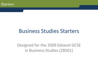 GCSE Business Studies Starters