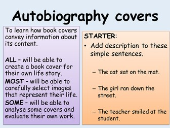 Autobiography covers