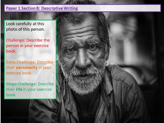 Paper 1 Section B: AQA: Descriptive Writing