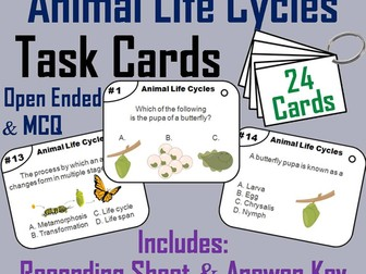 Animal Life Cycle Task Cards