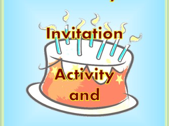Birthday Invitation Activity and Lesson Plan