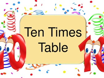 Ten Times Table Practice