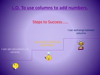 Column addition starter