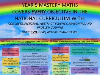 YEAR 5 MASTERY MATHS BUNDLE COVERS EVERY OBJECTIVE