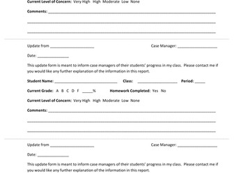 Special Education Collaboration Form