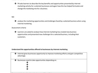 unit 12 internet marketing in business btec business Business-to-business marketing (often referred to as b2b) is the development and marketing of services and products to business, governmental, and institutional markets at the local, national, or international level, rather than private retail consumers the vehicles of business-to-business.