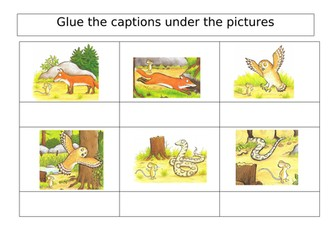 The Gruffalo Literacy Worksheets