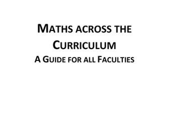 Maths accross the Curriculum Handbook (MUST READ)