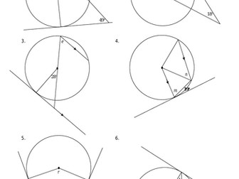 Circle Theorem: Angle between a tangent and its radius