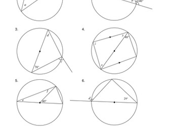 Circle Theorem: Angles in a semicircle
