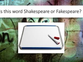 Shakespeare's Language Quiz