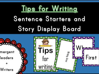 Tips for Writing - Sentence Starters Display Board