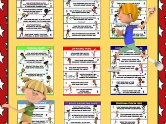 PE Poster Bundle: Manipulative Skills- 9 Skill Cue Posters