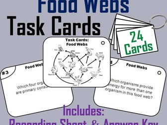 Food Web Task Cards