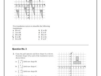 Transformations Bundle- IGCSE Mathematics by TES_KM